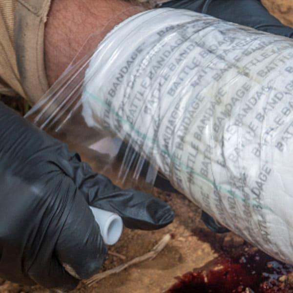 battle bandage in use