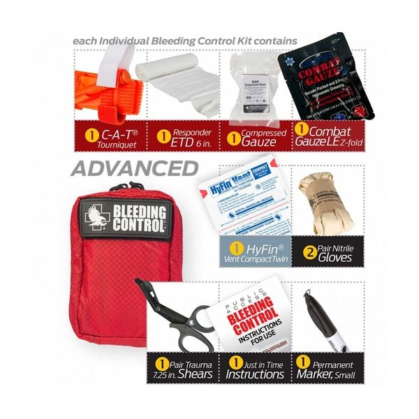 public-access-bleeding-control-station-individual-pouch-content