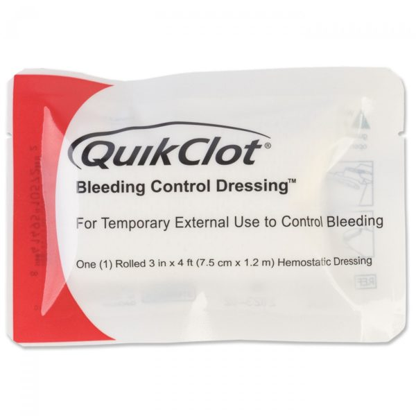 QuikClot Bleeding Control Dressings Rolled